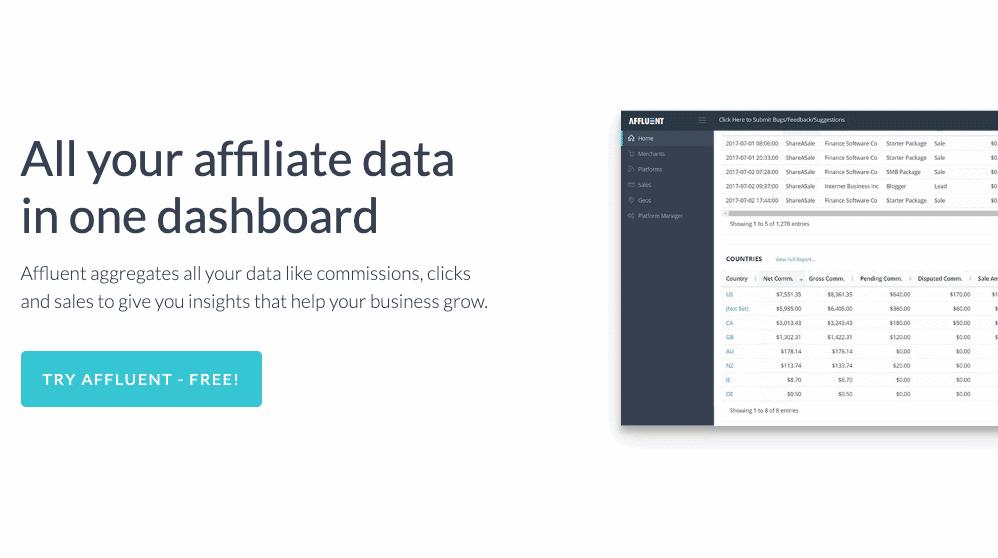 Affluent affiliate marketing tool